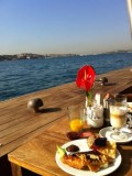 Enjoying the view at breakfast at the Radisson Blu Bosphorus in Istanbul