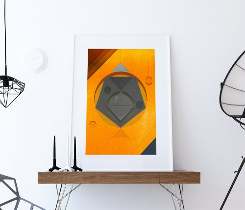 Fabulous Mid Century Print Geometric Vintage Retro Abstract Art Print Large Poster Giclee On Satin Or Cotton Canvas Wall Decor 5817ab1a2 Mid Century Art Frames Mid Century Art Deco Furniture