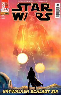 Cover der Comicshop Ausgabe - Star Wars #2: Skywalker schlägt zu!, Rechte bei Panini Comics