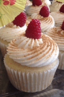 (NEW) Lemon Coconut Raspberry Cupcakes