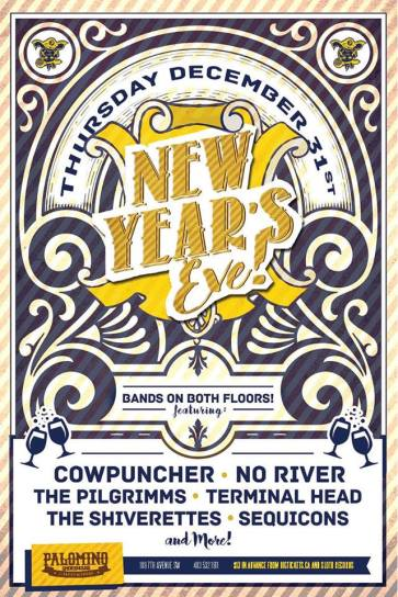 December 31, 2015 - NYE w/ No River, The Pilgrimms, Terminal Head, The Shiverettes and Sequicons