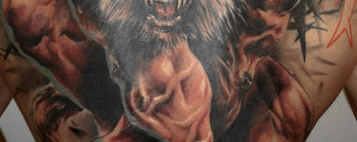 Big werewolf tattoo