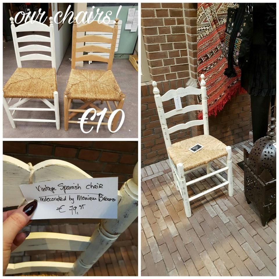 onze stoelen zijn €10,- bij een winkel in amsterdam een tikkeltje duurder.