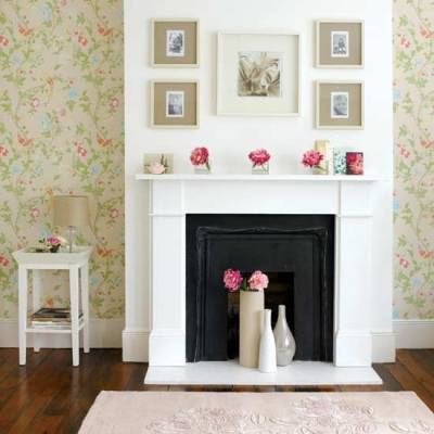 How to Wallpaper around Fireplaces | We Say How