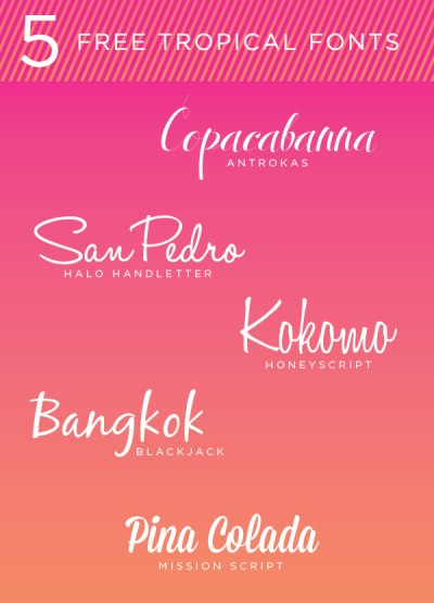 TROPICAL FREE FONTS - Kirsten Kizerian - West End Girl
