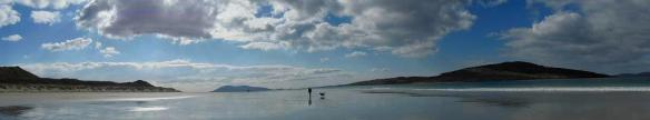 Man and dog, Luskentyre