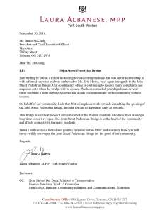 Letter from Albanese