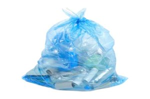 Blue Bags full of Recyclable Items