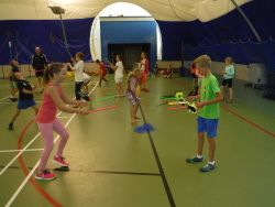Children enjoying the sports camps held across Pembrokeshire during the school holidays.