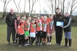 Clarbeston Road football club has been awarded the insport Club of the Month accolade