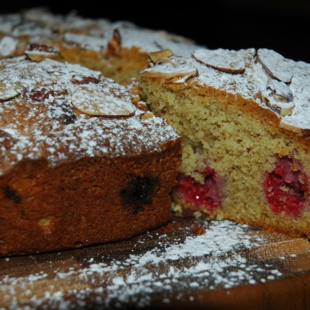Baking: Raspberry and Almond Cake