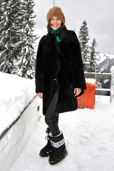 GSTAAD, SWITZERLAND - DECEMBER 15: attends ASMALLWORLD lunch at a Mountian Chalet on December 15, 2012 in Gstaad, Switzerland. (Photo by The Image Gate/WireImage for ASMALLWORLD)