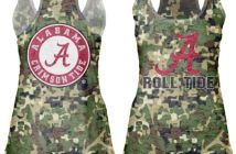 womens ncaa camo tank top, alabama crimson tide camo tank top, salute to service tank top, camoflage alabama tank toop