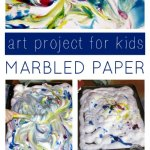Marbled Shaving Cream Art Project for Kids