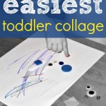Easy Toddler Art Project: Collage