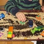 Sensory Tray for Cars {Transportation Tuesday}