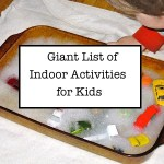 Updated: Giant Indoor Activity List for Kids
