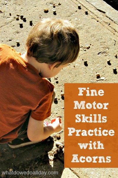 5 ideas for Fall Fine Motor Fun!