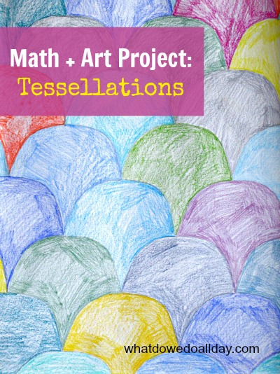 Math Art is a great way to combine subjects. Be creative!