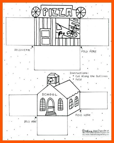 free printable building coloring page by Melanie Hope Greenberg