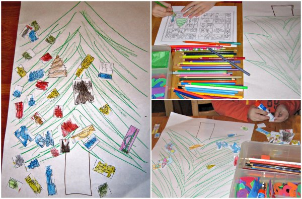 Free Christmas coloring page printable activity for kids