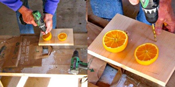 How to make orange bird feeder with perch