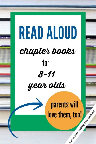Great choices for chapter book read alouds that will appeal to ages 8 and up. 3rd, 4th and 5th graders. Some are good choices for younger siblings, too.