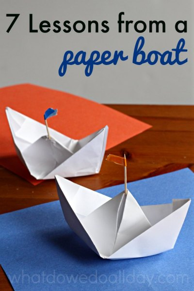 Lessons I learned while making paper boats with my son.