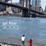 Simple Play Activity: Throw Rocks