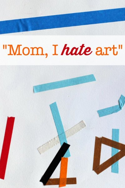 """Project for the child who says """"I hate art"""""""