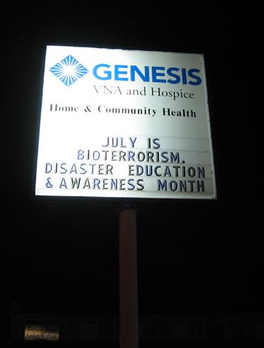 Bioterror sign