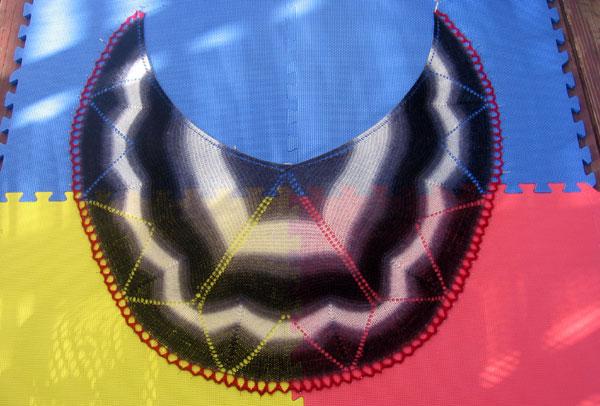 Blocking the shawl