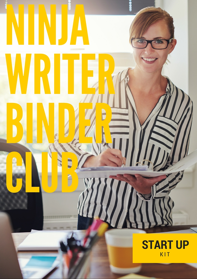 Ninja Writer Binder Club Newsletter