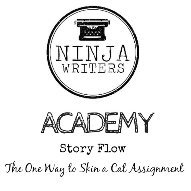 Ninja Writers Academy: The One Way to Skin a Cat Assignment. Use this lesson to figure out one way to get through your story.