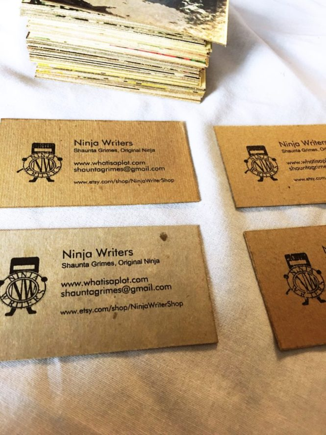 Ninja writers you can add something to the front too you dont have to your cards will already look awesome just the way they are but if you want to fandeluxe Image collections