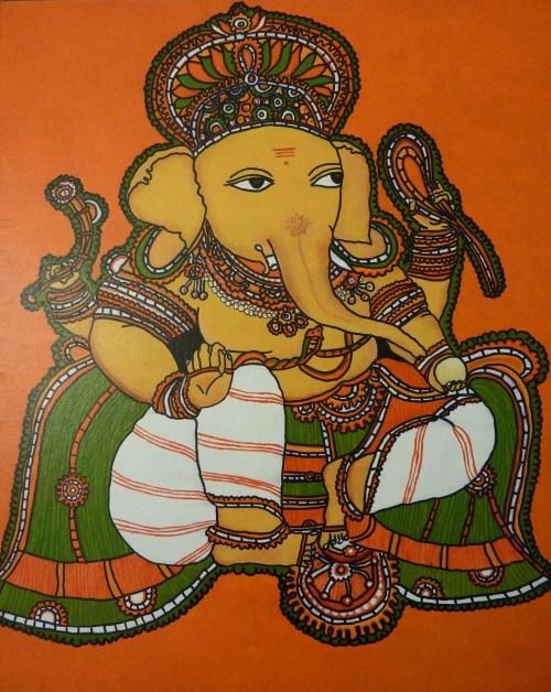Ganesha Kerala mural painting