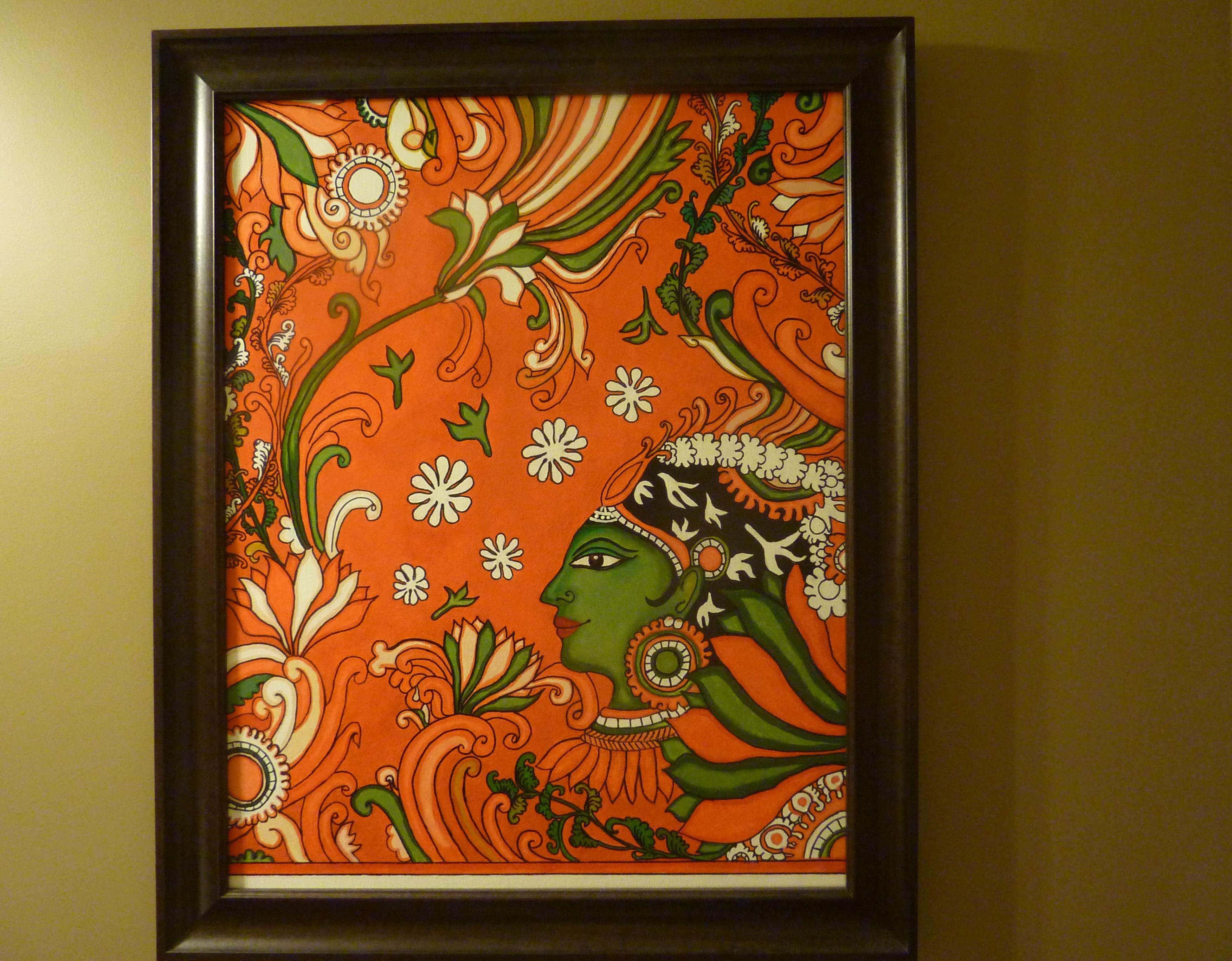 Kerala mural painting tutorial for the non painter for Airbrush mural painting