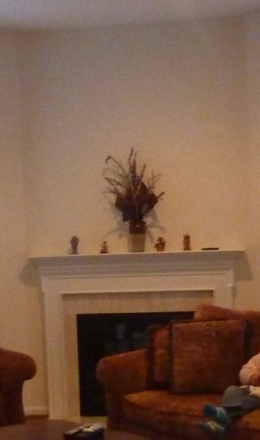 fireplace mantle before