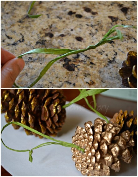 Whats Ur Home Story: How to make a Gilded Pine Cone Ornament, pine cone ornament tutorial