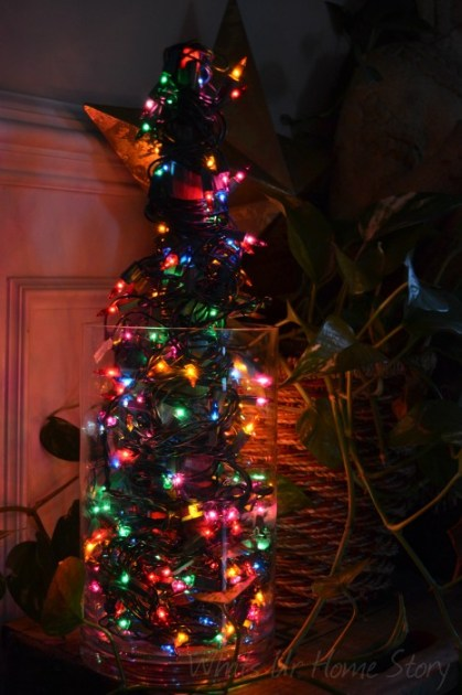 Whats Ur Home Story: Mini Light Christmas Tree, Lights in a Vase