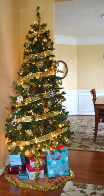 Whats Ur Home Story: Nature Inspired Glam Christmas Tree, Gold Themed Christmas Tree, nature inspired christmas tree