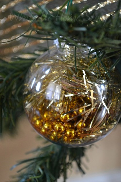 Whats Ur Home Story: Tinsel ornament Tutorial, Tinsel Christmas Decor