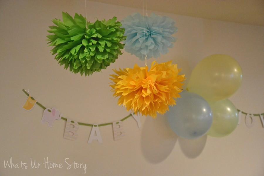 Whats Ur Home Story: Tissue paper pom poms