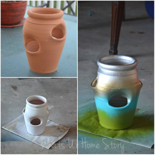 Whats Ur Home Story: How to make a strawberry pot succulent planter