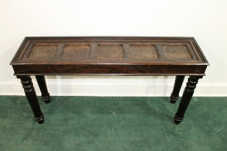 Brass Inlaid Console Table