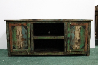 recycled wood media cabinet, recycled wood media console