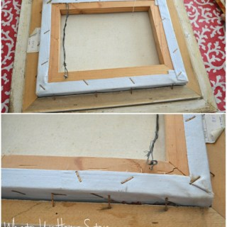 Easy Way to Hang Art,Easy Way to Frame a Canvas Picture