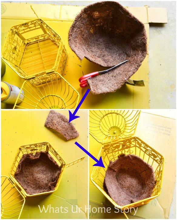 how to make a bird cage planter