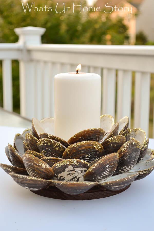 clam shell candleholder