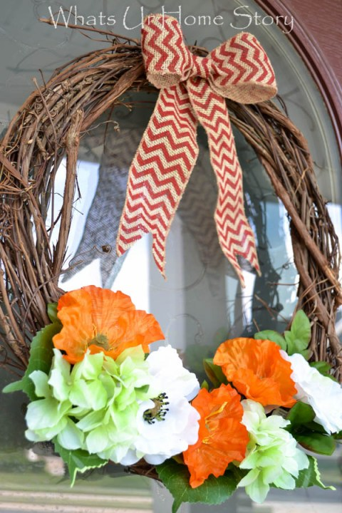 summer wreath tutorial -Whats Ur Home Story